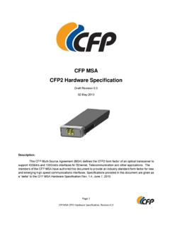 CFP MSA CFP2 Hardware Specification