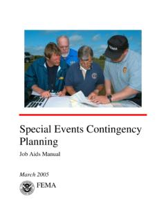 Special Events Contingency Planning - FEMA