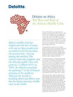 Deloitte on Africa The Rise and Rise of the African …