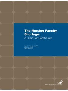 The Nursing Faculty Shortage - Indiana University