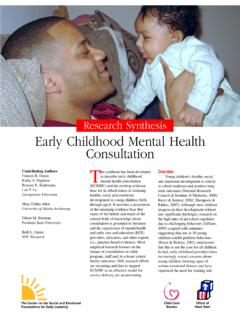 Research Synthesis Early Childhood Mental Health …