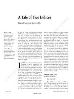 A Tale of Two Indices - Baruch College