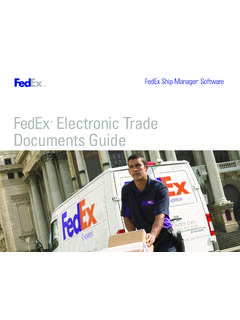 FedEx Electronic Trade Documents Guide