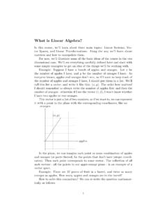What is Linear Algebra? - University of California, …