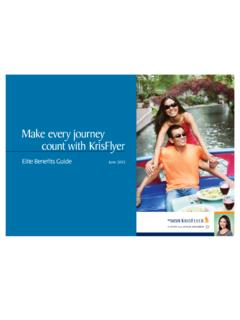 Make every journey count with KrisFlyer