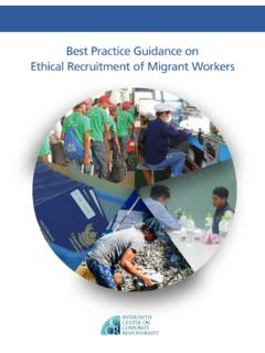 Best Practice Guidance on Ethical Recruitment of Migrant ...