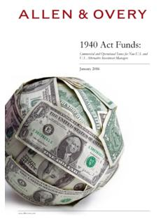 1940 Act Funds - Allen & Overy