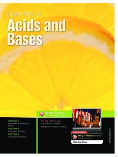 CHAPTER 14 Acids an Bases - Mr. Dean's Science Portal