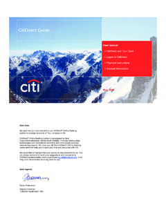 citidirect user guide a4 en - Banking with Citi | …