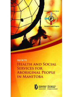 Guide to Health and Social Services for Aboriginal People ...