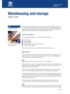 Warehousing and storage - hse.gov.uk