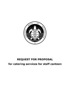 Request For Proposal For Catering Services For Staff Canteen For Proposal For Catering Services For Pdf4pro