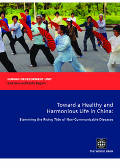 Toward a Healthy and Harmonious Life in China: Stemming ...