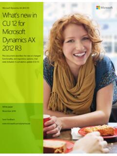What's new in CU 12 for Microsoft Dynamics AX 2012 R3