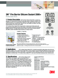 SMOKE SEAL 3M Fire Barrier Silicone Sealant 2000+ HOUR L