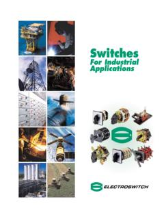 Switches for Industrial Applications - tristateelectricmc.com