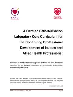 A Cardiac Catheterisation Laboratory Core Curriculum for ...