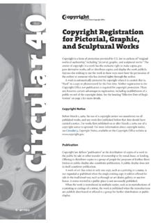 Copyright Registration for Pictorial, Graphic, and ...
