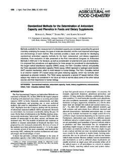 Standardized Methods for the Determination of …