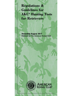 Amended August 2017 Published by The American Kennel Club