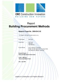 Building Procurement Methods - Construction Innovation