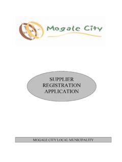 Mogale Supplier Application Registration
