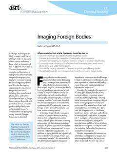 Imaging Foreign Bodies - American Society of Radiologic ...