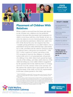 Placement of Children With Relatives - Child Welfare