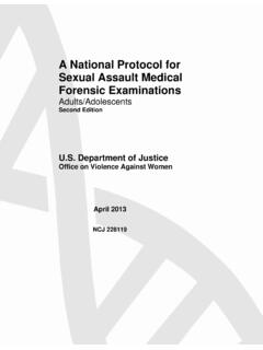 A National Protocol for Sexual Assault Medical Forensic ...