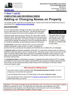 Deeds: Adding or Changing Names on Property - saclaw.org