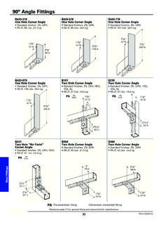 90° Angle Fittings - Cooper Industries