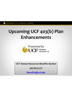 Upcoming UCF 403(b) Plan Enhancements