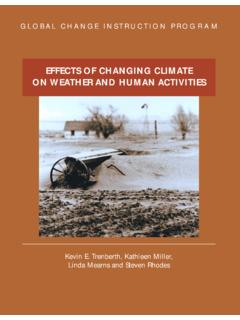 EFFECTS OF CHANGING CLIMATE ON WEATHER AND …