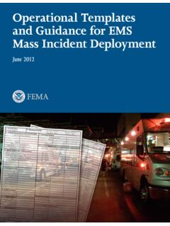 Operational Templates and Guidance for EMS Mass Incident ...