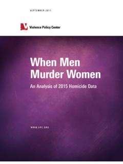 When Men Murder Women - Violence Policy Center