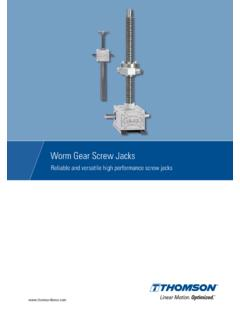 Worm Gear Screw Jacks Catalog (A4) - Thomson - …