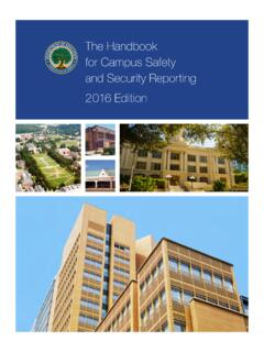 The Handbook for Campus Safety and Security Reporting ...