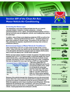 Section 609 of the Clean Air Act: Motor Vehicle Air ...
