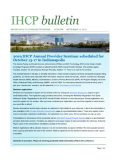 IHCP bulletin - provider.indianamedicaid.com
