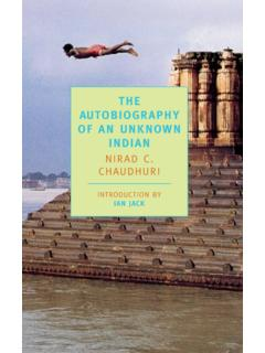 The Autobiography of an Unknown Indian …