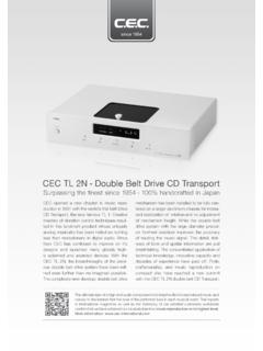 CEC TL 2N - Double Belt Drive CD Transport