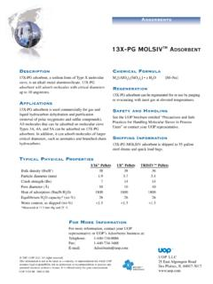 13X-PG MOLSIV DSORBENT - PSB Industries