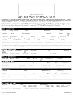 BOAT and YACHT APPRAISAL FORM - BUCValu Pro