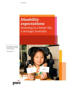 Disability expectations - Investing in a better life, a ...