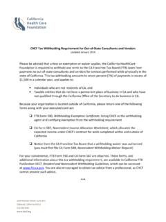 CHCF Tax Withholding Requirement for Out-of-State ...