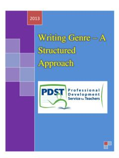 Writing Genre – A Structured Approach