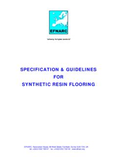 SPECIFICATION & GUIDELINES FOR SYNTHETIC …