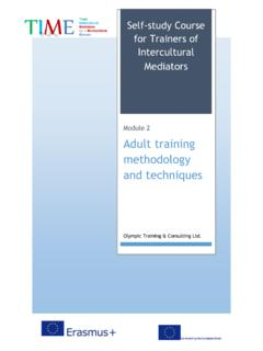 Module 2 Adult training methodology and techniques