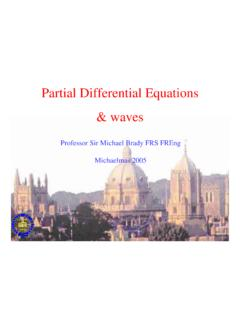 Partial Differential Equations & waves