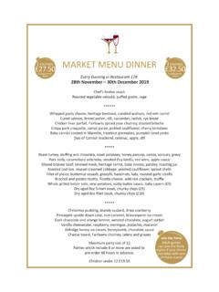 MARKET MENU DINNER £32 - s3-eu-west-1.amazonaws.com